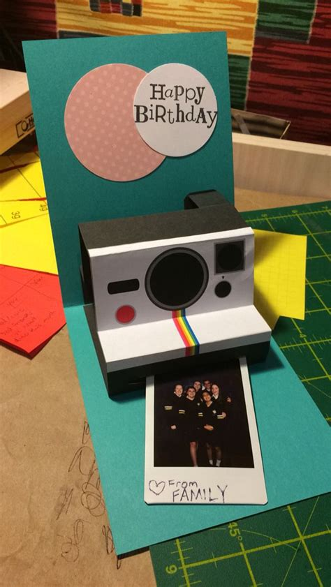 polaroid pop up birthday card with printable template 25 best ideas about diy birthday cards on