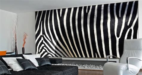 wall decor zebra rumah minimalis