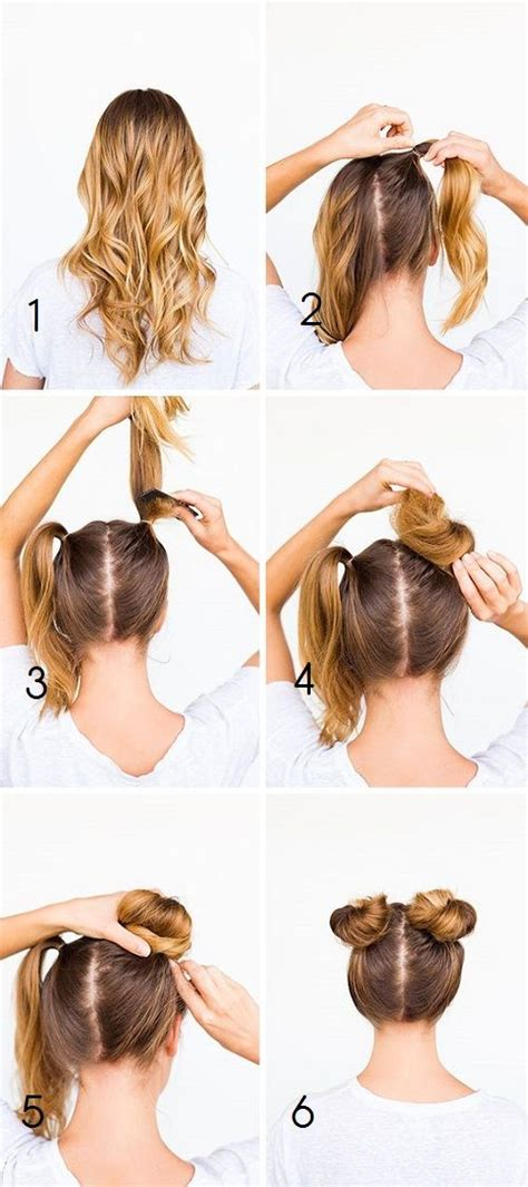 hairstyles buns pinterest how to do 90 s grunge double buns hair pinterest