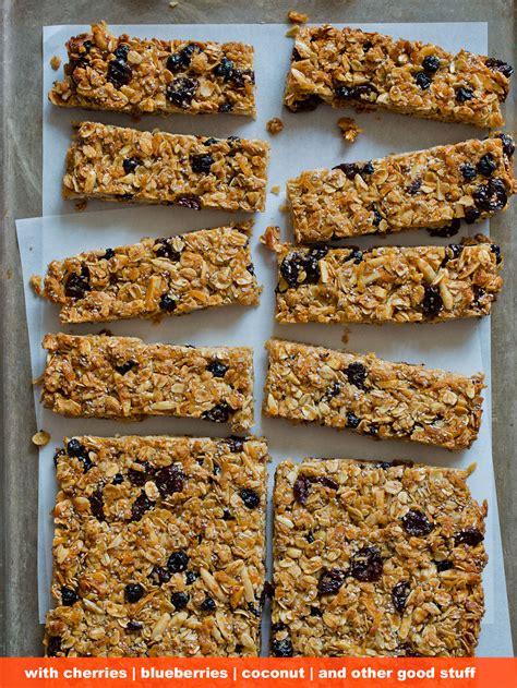granola bars snack recipe spoon fork bacon