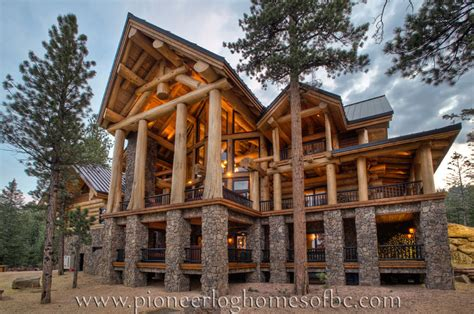 pioneer log homes of bc view our gallery of custom log