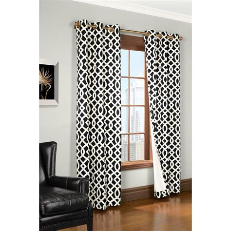 Black And White Trellis Curtains Thermalogic Weathermate Trellis Curtains 80x84 Quot Grommet