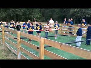 Fuse Ball Table Human Foosball At Camp Butter And Egg Youtube