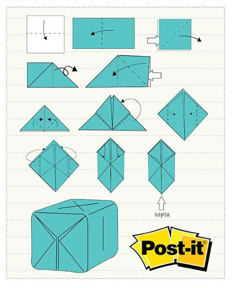 Origami Post It Notes - 20 best origami y papiroflexia images on note