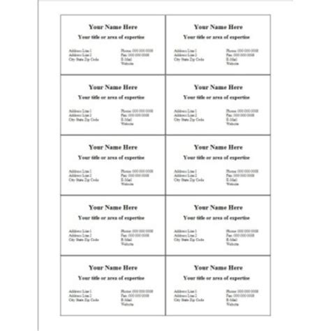 Blank Business Card Template 10 Per Page by Avery Templates For Business Cards Avery Business Card