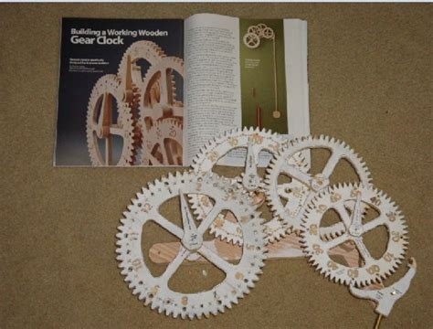 How To Make Paper Gears - wooden gear clock 8 steps with pictures