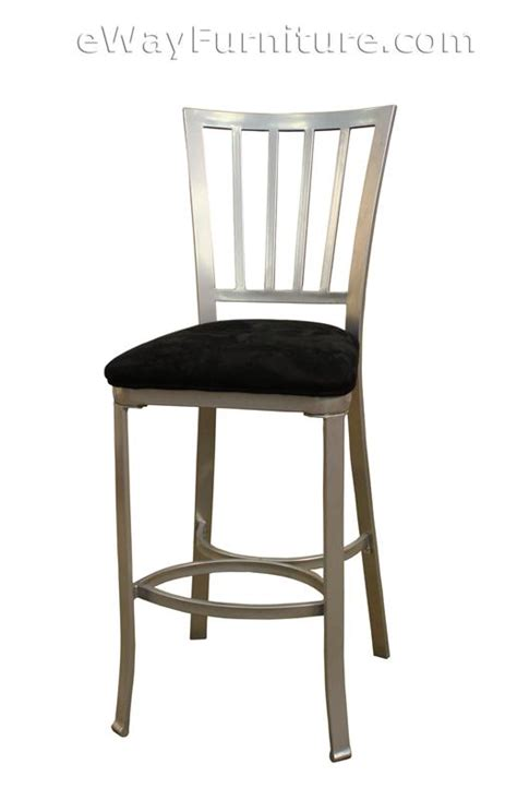 bar stools with fabric seat 2 catalina 30 quot bar height silver metal bar stools with