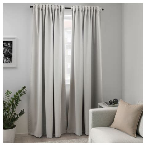 light blocking curtains ikea majgull block out curtains 1 pair light grey 145x250 cm