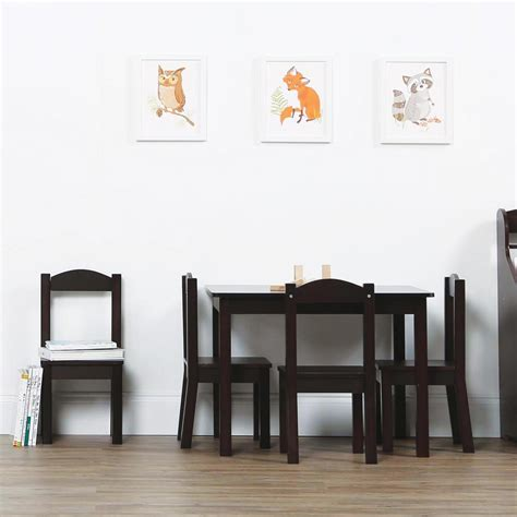 tot tutors wood table and chair set colors tot tutors espresso collection 5 espresso table and