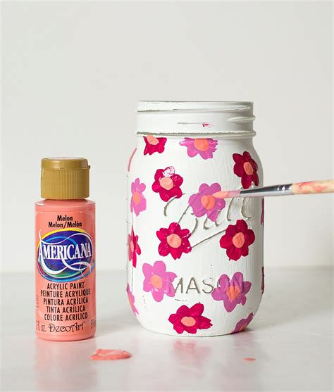 acrylic painting jars marimekko jar jar crafts