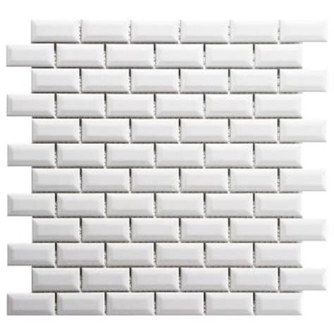 Home Depot Subway Tile by Merola Tile Metro Subway Beveled Glossy White 12 In X 12
