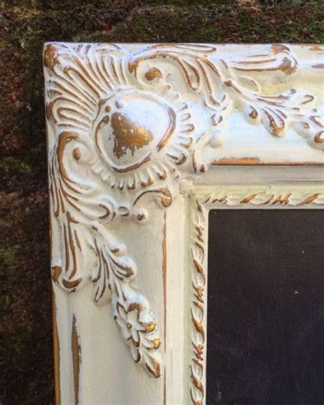 hand painted vintage white  gold frame  custom