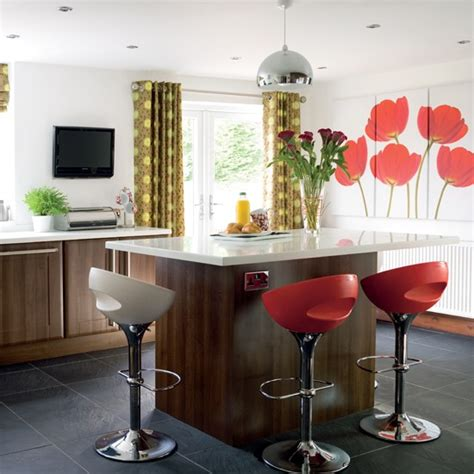 kitchen feature wall ideas kitchen with colourful feature wall kitchen colour