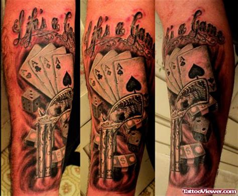 tattoo of life is a gamble amazing life is a gamble tattoo design tattoo viewer com