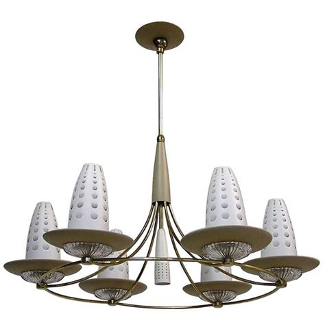 Lightolier Chandelier 1950s Lightolier Chandelier By Gerald Thurston For Sale At 1stdibs