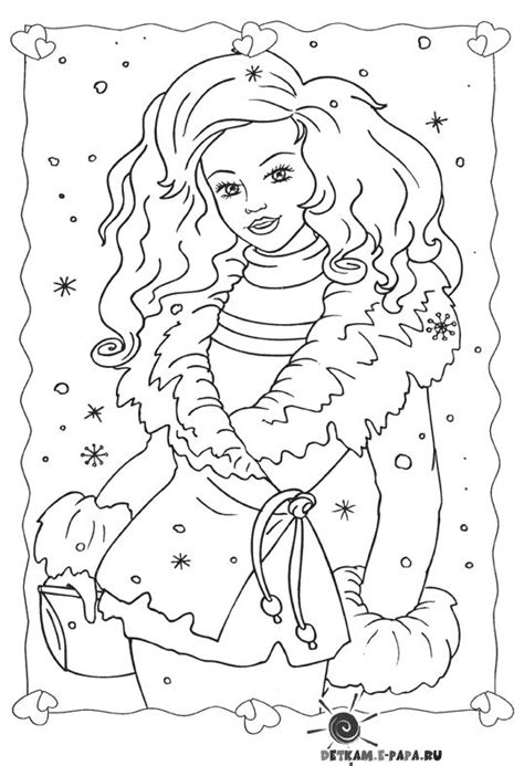 barbie winter coloring pages 1000 images about fashion coloring on pinterest dovers