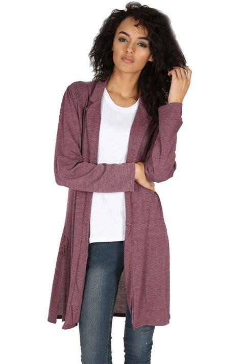Daster Dress Midi Line womens knitted collared blazer sleeve midi length duster cardigan ebay