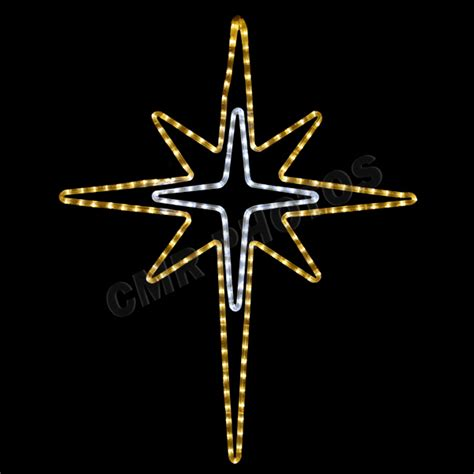 led gold bethlehem star rope light yard motif silhouette