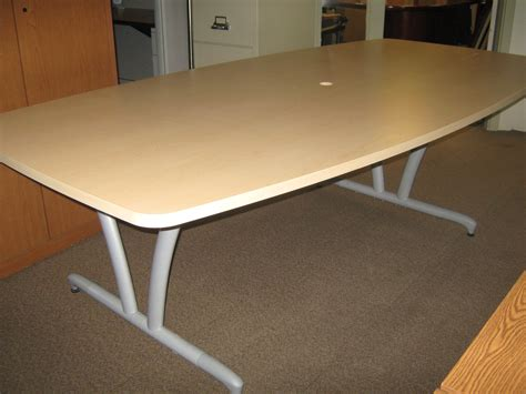 used boat table for sale used hon laminate 8 maple boat shaped conference table