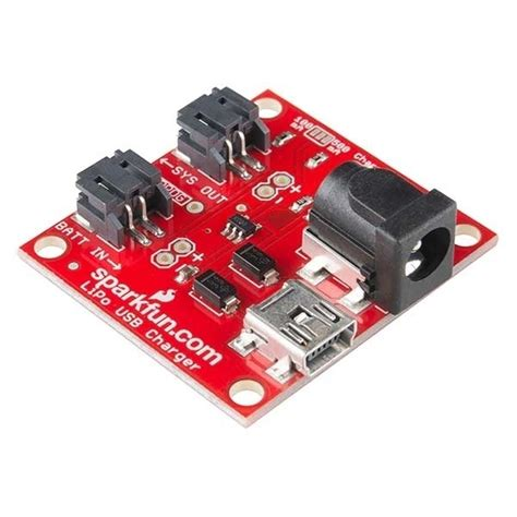 sparkfun usb lipoly charger single cell strom spannung