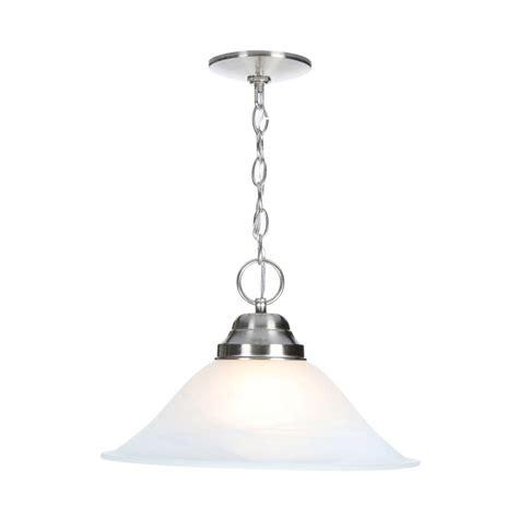 design house millbridge 1 light satin nickel pendant