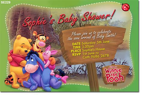 Winnie The Pooh Birthday Invitations Templates by Se229 Baby Shower Winnie The Pooh Baby Shower