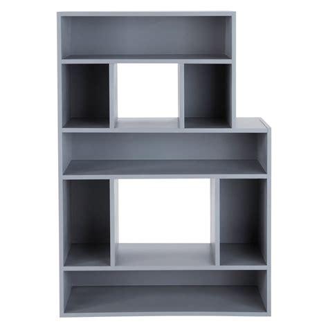libreria grigia libreria grigia in legno l 90 cm b maisons du monde