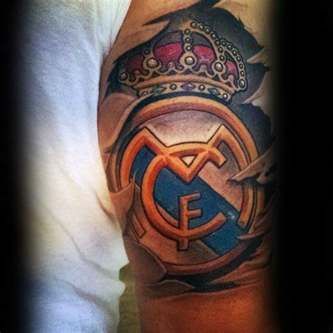real madrid tattoo designs 60 real madrid designs for soccer ink ideas