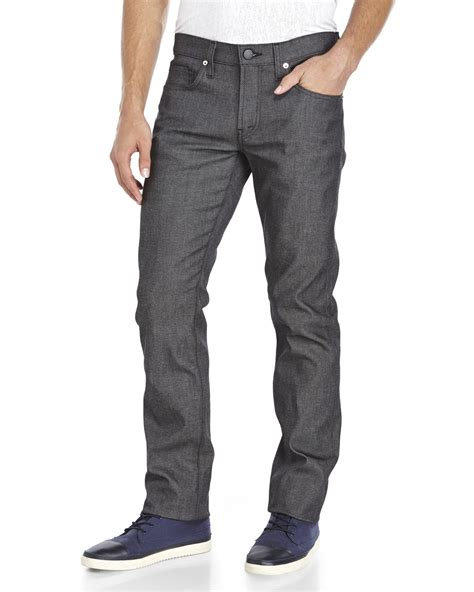 1921 jeans slim straight river lyst j brand charcoal kane slim straight jeans in gray
