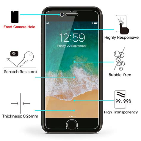 Tempered Glass Iphone 66s7 omoton 9h hardness hd tempered glass screen protector for apple iphone 8 plus iphone 7 plus 2