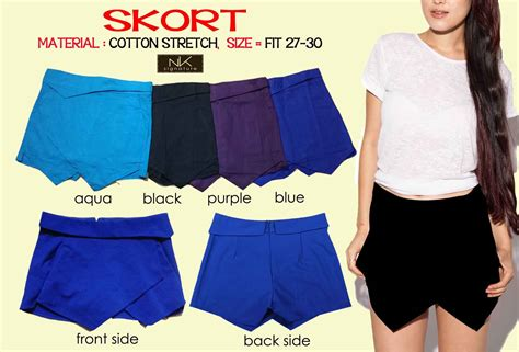 Celana Pendek Garment Blue Black buy 1 get 1 fashion mini skort 9 colors with material cotton stretch all size fit to l