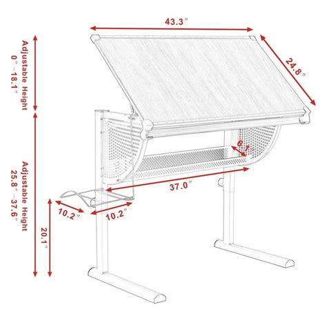 pattern drafting table height adjustable drafting table drawing desk art craft hobby