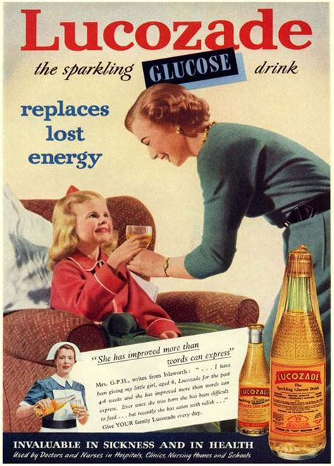 Vintage Armchair Nineteen Classic Vintage Lucozade Ads From The 1950s