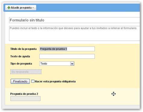hacer preguntas en google crear cuestionarios en l 237 nea con google docs y sites