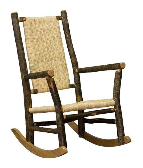 rustic rocking chair kit amish rocking chair hickory rocker