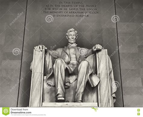 monument of abraham lincoln in washington dc abraham lincoln monument in washington dc stock image