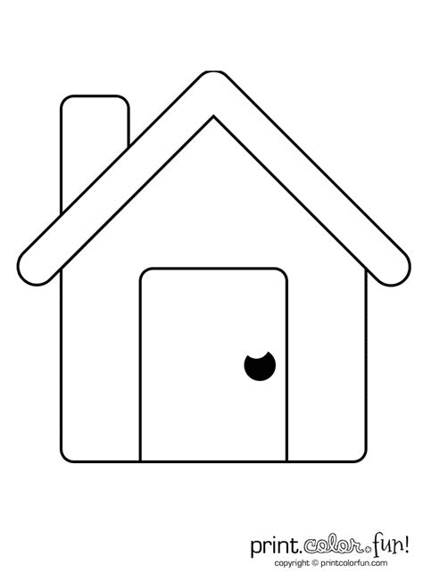 how to color a house simple house coloring page print color fun