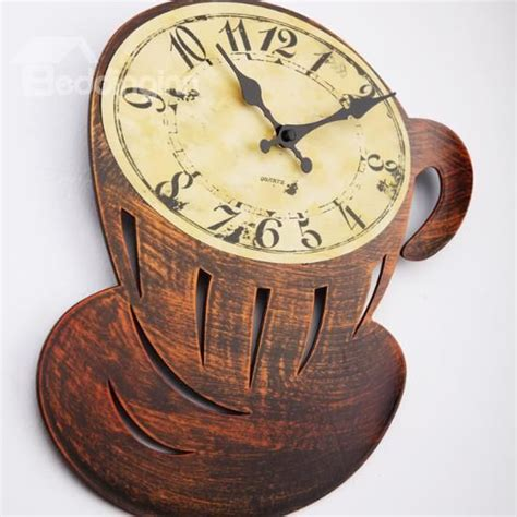 themes new clock new arrival beautiful antique coffee cup style wall clock