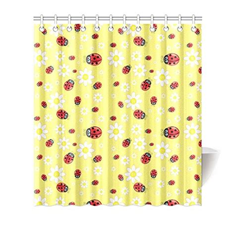 ladybug curtains ladybug shower curtains in standard size or extra long styles