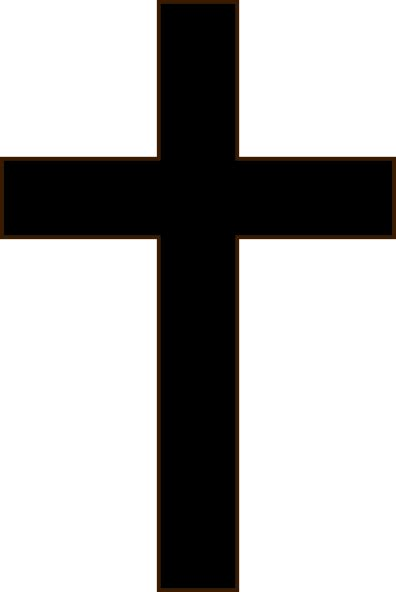 emoji salib simple black cross clip art at clker com vector clip art