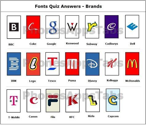 typography quiz font quiz answers brands