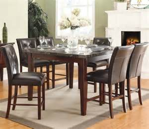 marble dining room set homelegance decatur 7 piece counter dining room set w