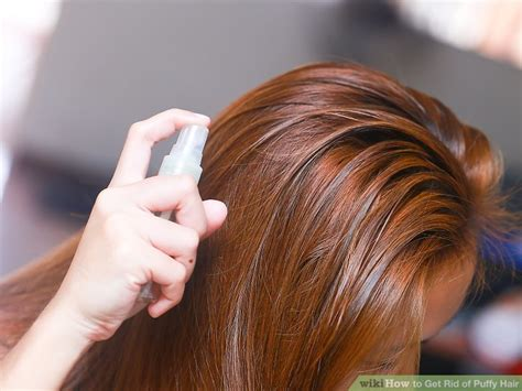 how i get rid of frizzy puffy hair for days helpful 4 ways to get rid of puffy hair wikihow