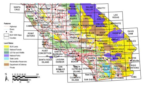 blm land map california buy and find california maps bureau of land management