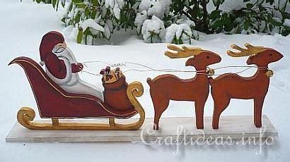 wood craft  christmas santa sleigh  reindeer