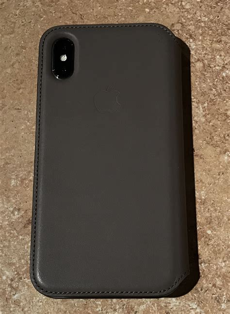 Apple Iphone X Leather Black review apple leather folio for the iphone x insight