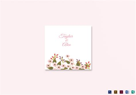 wedding place card template indesign floral wedding place card design template in illustrator