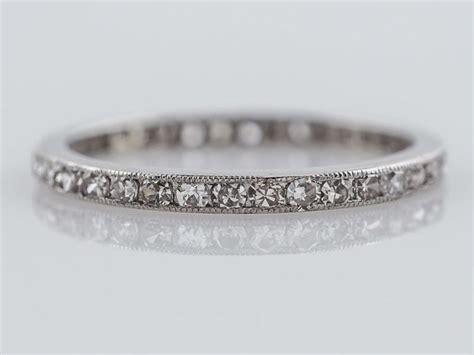 Wedding Bands No Diamonds by Antique Eternity Wedding Band Deco 57ct Single Cut