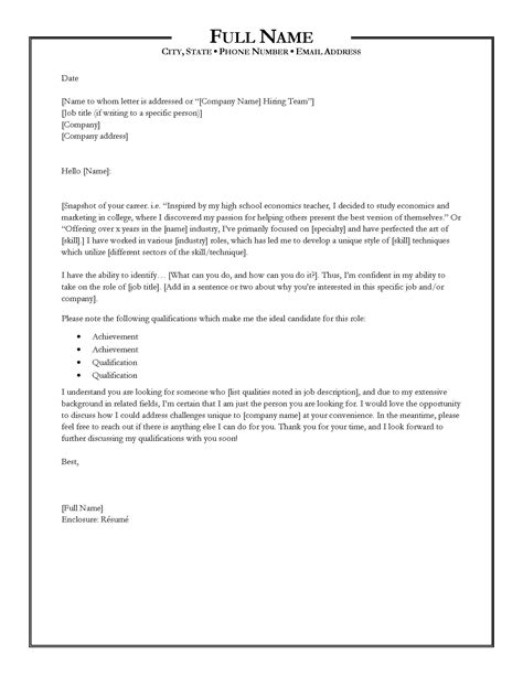 writing the perfect cover letter write styles