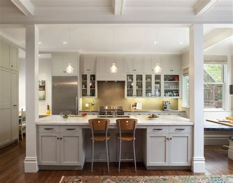 kitchen islands with posts cole valley residence center of attention traditional kitchen san francisco by gast